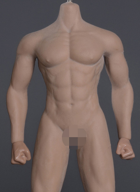 [JOK-12D-BS] Strong Male Body Suntan Skin with Detachable Foot by Jiaou Doll