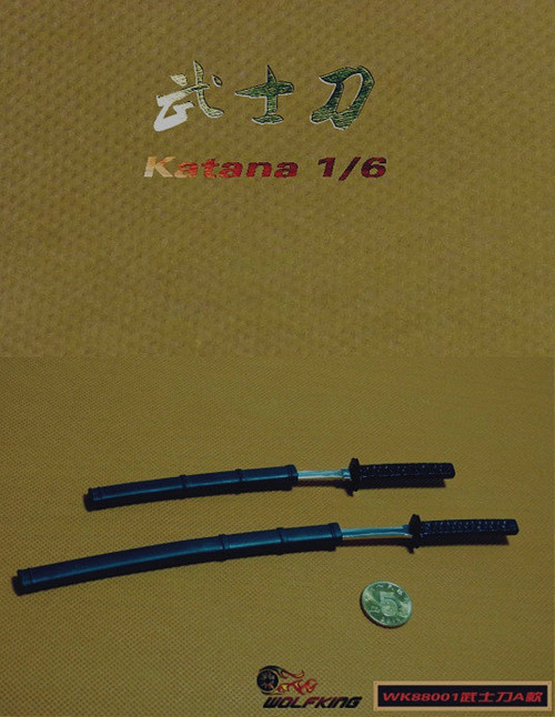[WK-88002N] Wolf King 1:6 Japanese Swords Katana Package Not Included