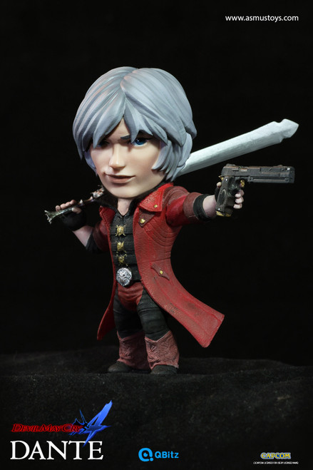 """[ASM-QB005] Dante 4"""" Tall Limited Articulation Figure in Devil May Cry by Asmus Toys"""