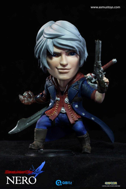 """[ASM-QB006] 4"""" Tall in Devil May Cry Nero by Capcom Asmus Toys"""