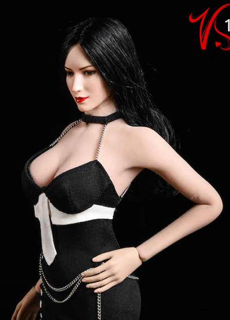 [VST-18XG49B] 1/6 Black Dress for TBLeague S12D Body by VS Toys