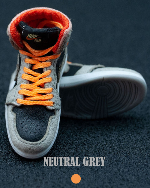 [BAN-1016B] 1/6 Master Series Sneakers in Neutral Grey & Orange by Banned