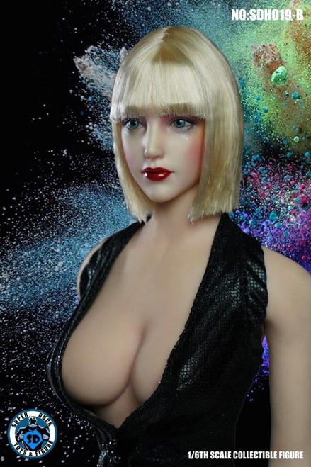 [SUD-SDH019B] 1/6 Cyborg Headsculpt with Blonde Hair by Super Duck