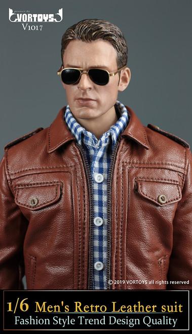 [VOR-1017] 1/6 American Leader Mens' Leather Jacket by VORTOYS