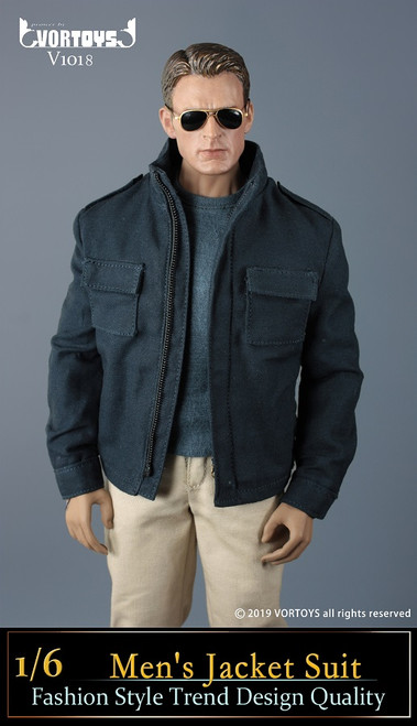 [VOR-1018] 1/6 American Leader Mens' Blue Jacket by VORTOYS