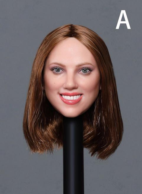 [GAC-033A] 1:6 Caucasian Women's Head Sculpt (5 Style) by GACTOYS