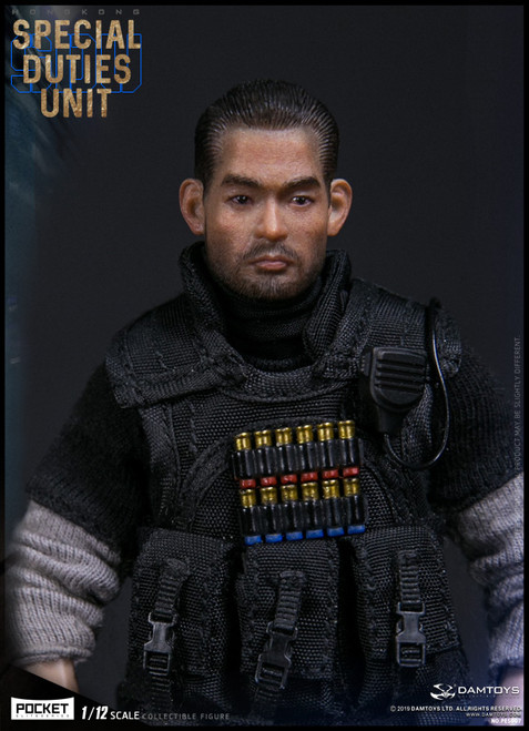 [DAM-PES007] 1/12 Pocket Elite Hong Kong SDU Fai Sir Figure by DAM Toys