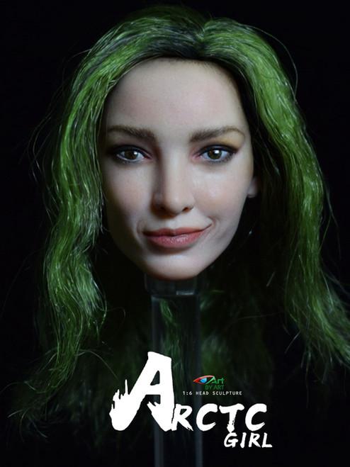 [BY-T6] 1/6 Arctic Girl Head Sculpture Head Sculpture BY-ART
