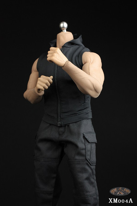 [XM-004A] 1/6 Black Hoodie & Pants Set by XRF