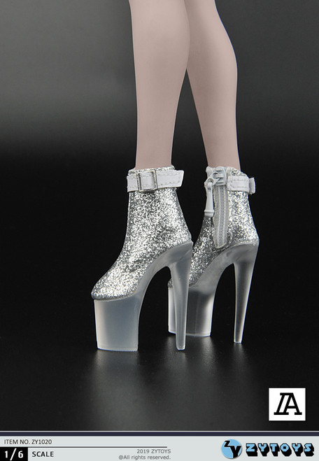 [ZY-1020A] 1/6 Female Sliver Platform Shoes by ZY TOYS