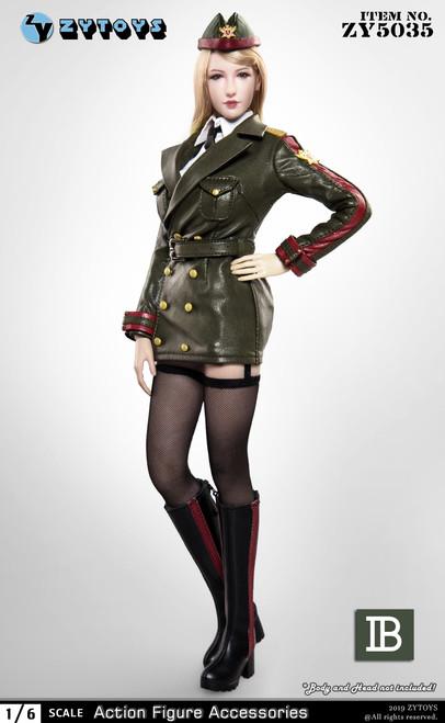 [ZY-5035B] 1/6 Green Female Army Uniform by ZY TOYS