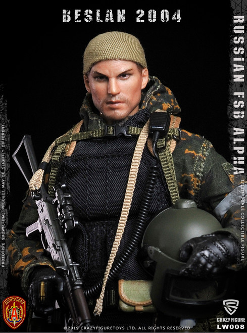 [CF-LW008] 1/12 Russian Alpha Special Forces  Grenadier by CrazyFigure