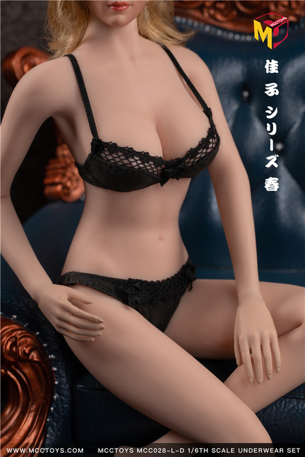 [MCC-028-LD] Large Black Exquisite Bras & UnderPants Spring Camry Series by MCC TOYS