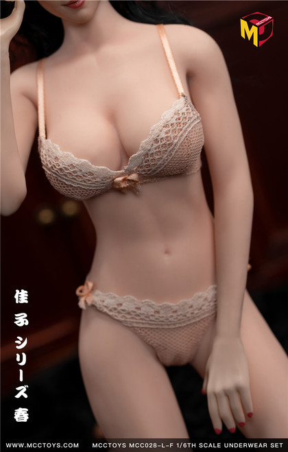 [MCC-028-LF] Large Nude Pink Exquisite Bras & UnderPants Spring Camry Series by MCC TOYS