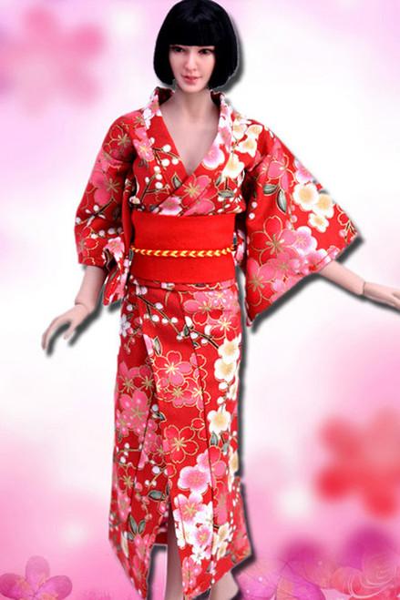[VST-HF005] 1/6 Red Japanese Kimono Clothing by VS Toys