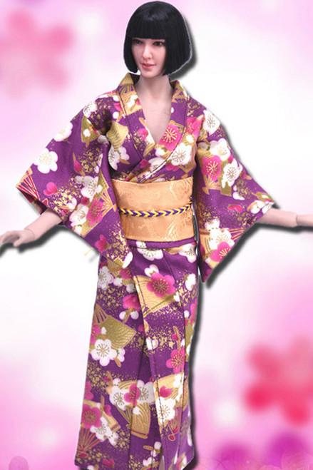 [VST-HF006] 1/6 Purple Japanese Kimono Clothing by VS Toys