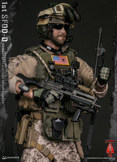 [DAM-78074] 1/6 1st SFOD-D Combat Applications Group Gunner by DAM Toys