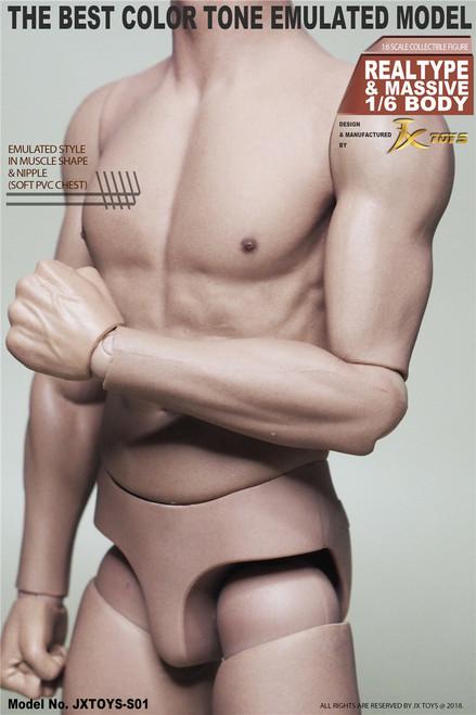 [JXT-S01] 1/6 Male Asian Muscular Figure Body by JXtoys