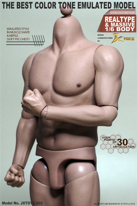 [JXT-S02] 1/6 Male Strong Muscular Figure Body by JXtoys