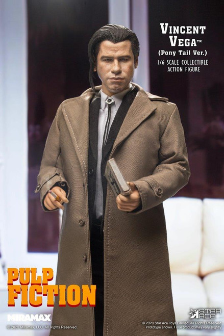 [SA-0086] 1/6 Vincent Vega of Pulp Fiction 2.0 Figure Pony Tail Normal Version by Star Ace