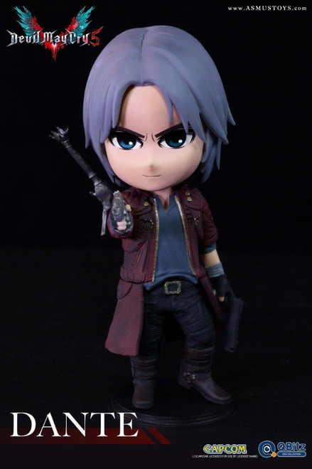 """[ASM-QB009] 4"""" Tall in Devil May Cry 5 DANTE Figure by Capcom Asmus Toys"""