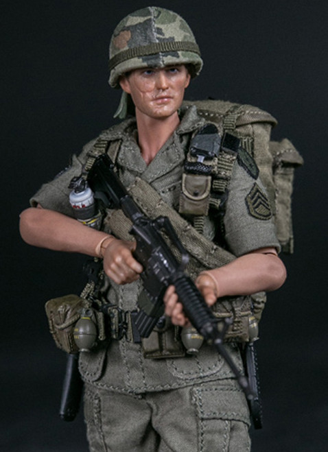 [DAM-PES006] 1/12 ARMY 25th Infantry Division Private  Staff Sergeant Figure by DAM Toys
