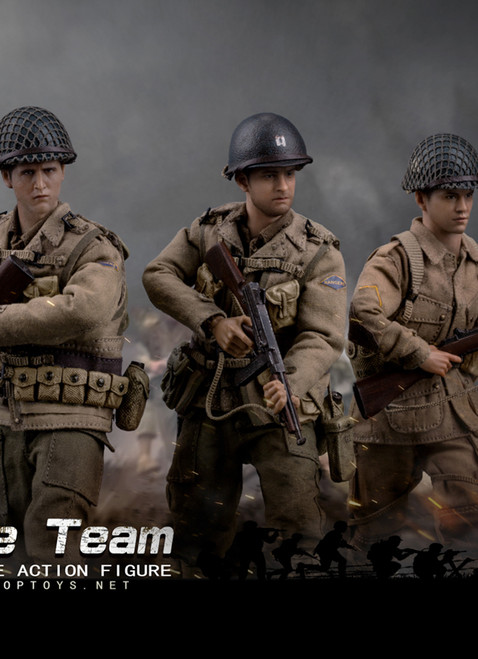 [POP-CMS004] 1:12 Classic Figure WWII US Rescue Squad Set by POP Toys