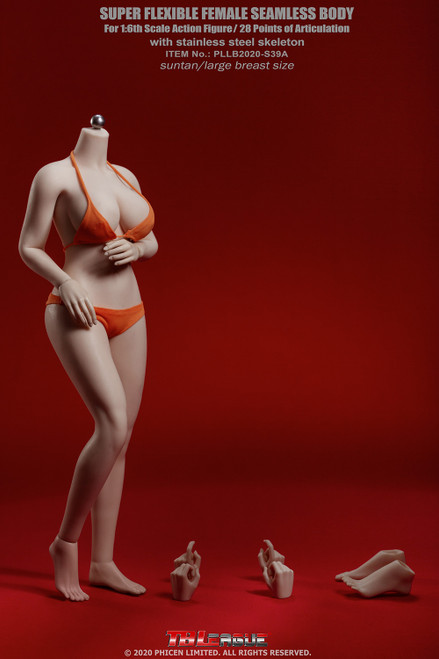[PLLB2020-S39A] 1/6 Suntan Buxom Women Female Super-Flexible Seamless Body by TBLeague Phicen