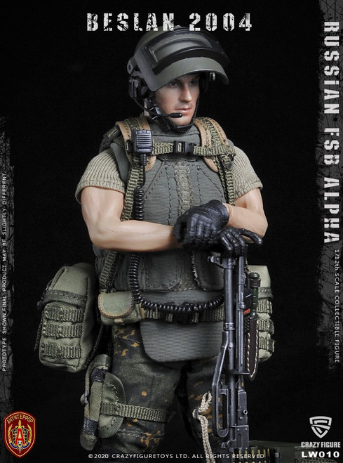 [CF-LW010] 1/12 Russian Alpha Special Forces Machine Gunner by CrazyFigure