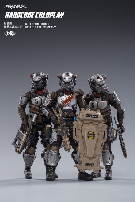 [JT-82011081] 1:18 Skeleton Force Hell's Fifth Company by JoyToy