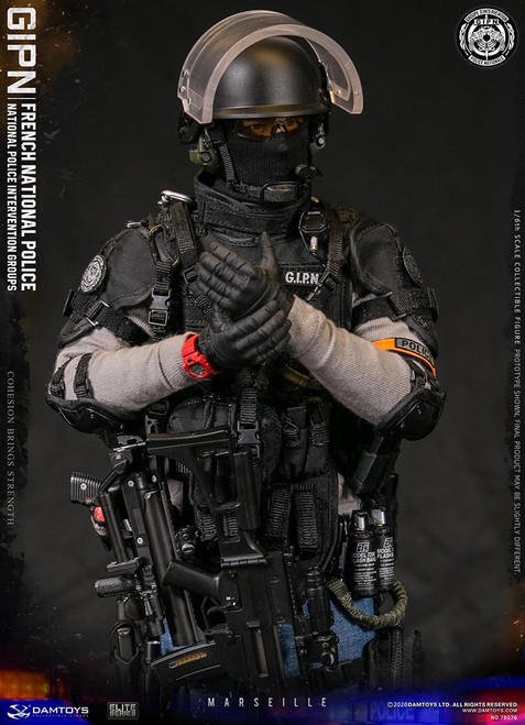 [DAM-78076] 1/6 French National Police Intervention Groups GIPN in Marseille by DAM Toys