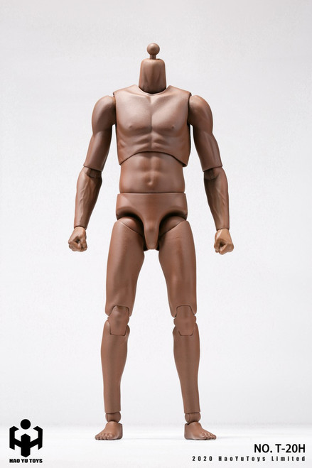 [HY-T20H] 1:6 African American 2.0 Super Sportsman's Body by HY Toys