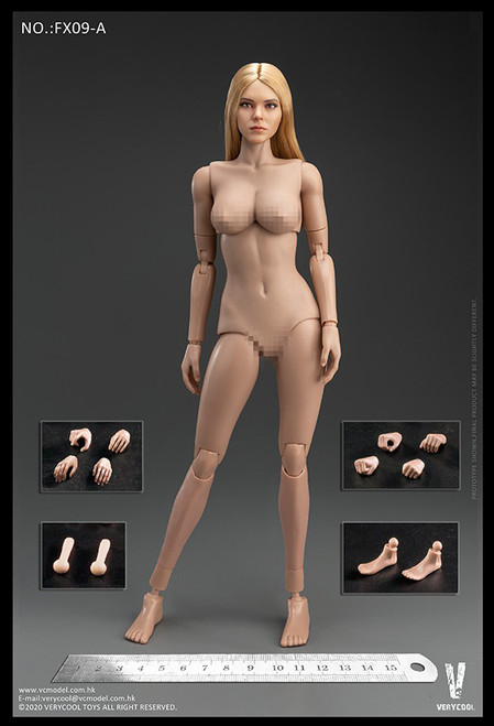 [VC-FX09A] Western Beauty Gold Hair Head Sculpt + VC 3.0 Female Body Set by Very Cool