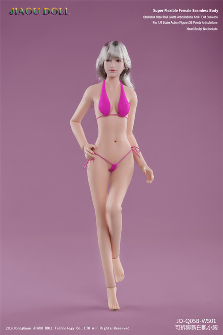 [JOQ-05B-WS01] Asian Shape Detachable Foot, New White Skin Small Bust by Jiaou Doll