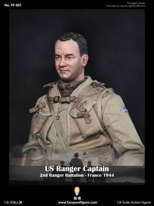 [FP-001] 1:6 US Ranger Captain France 1944 by Facepoolfigure