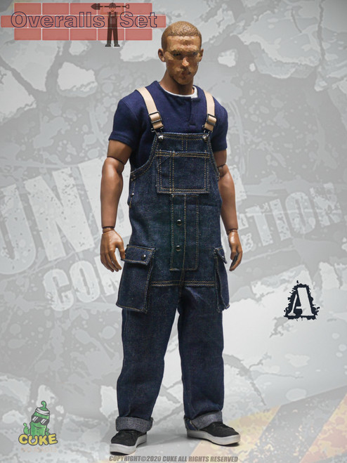 [CK-M013A] 1/6 Blue Overalls Set by Cuke Toys