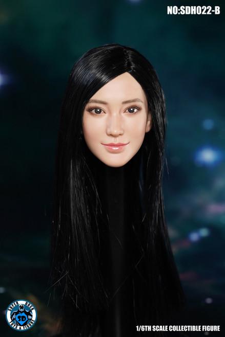 [SUD-SDH022B] 1/6 Super Duck Asian Headsculpt with Black Hair