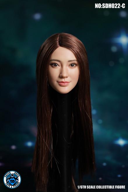 [SUD-SDH022C] 1/6 Super Duck Asian Headsculpt with Brown Hair