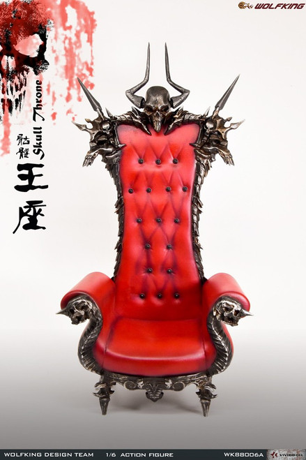 [WK-88006A] 1/6 Wolf King Skull Throne Chair