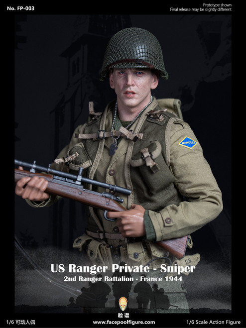 [FP-003A] Facepoolfigure 1:6 1944 WWII US Ranger Private Sniper Ordinary Version