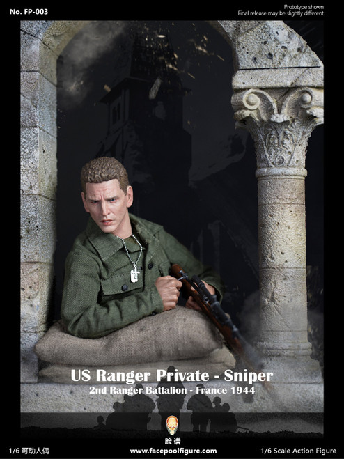 [FP-003B] Facepoolfigure 1:6 1944 WWII US Ranger Private Sniper Special Edition