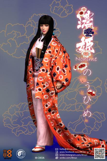 [i8-C003A] i8TOYS 1/6 Nohime Clothing Orange Uchikake Set Female Figure Accessories