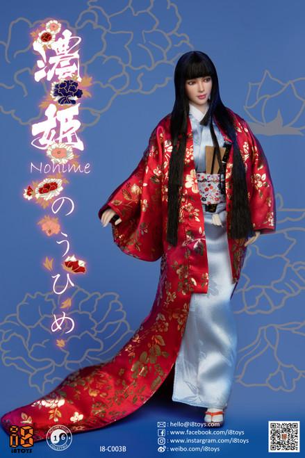 [i8-C003B] i8TOYS 1/6 Nohime Clothing Red Uchikake Set Female Figure Accessories