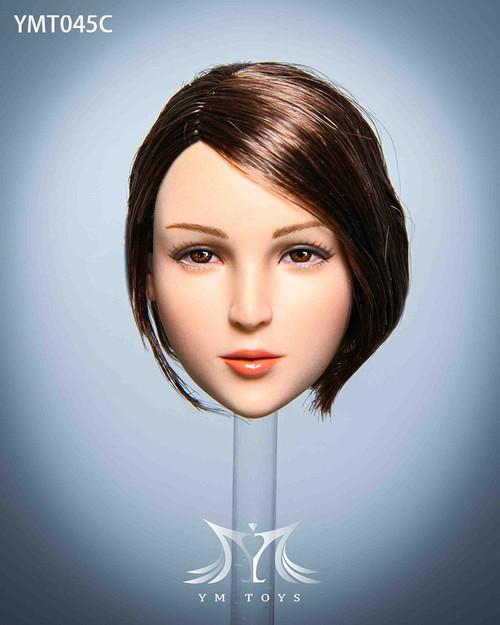 [YMT-045C] YM Toys 1/6 Maple Female Brown Short Hair Head