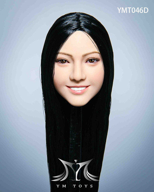 [YMT-046D] YM Toys 1/6 Malus Female Long Black Head