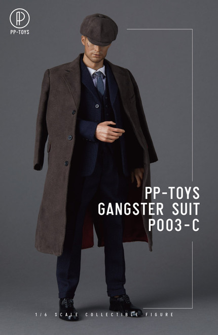 [PPT-P003C] 1/6 WWII British Retro Blue Suit by PP toys