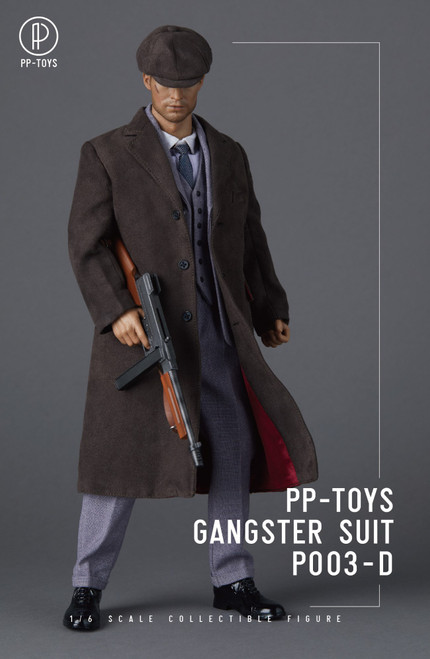 [PPT-P003D] 1/6 WWII British Retro Light Grey Suit by PP toys