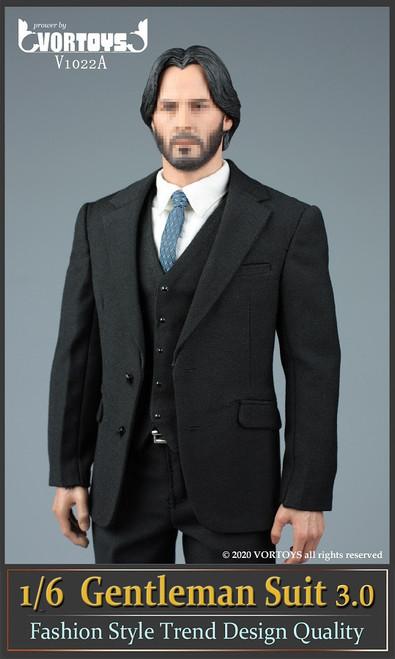 [VOR-1022A] 1/6 Black Gentleman Suit 3.0 by VORTOYS