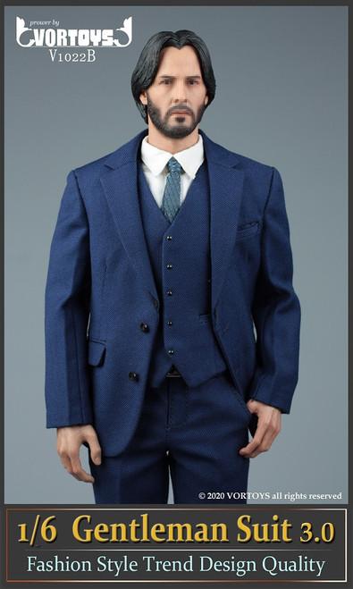 [VOR-1022B] 1/6 Blue Gentleman Suit 3.0 by VORTOYS