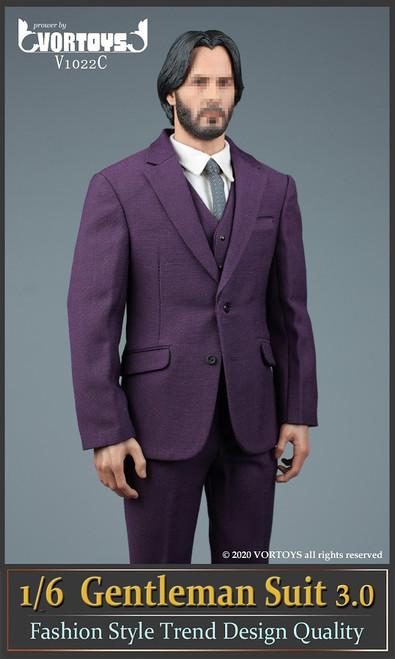 [VOR-1022C] 1/6 Purple Gentleman Suit 3.0 by VORTOYS